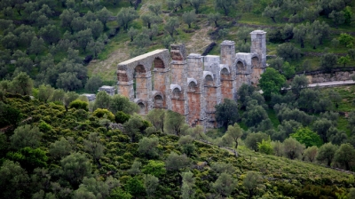 Moria - A Traditional Lesvian Village by a Great Roman Aqueduct