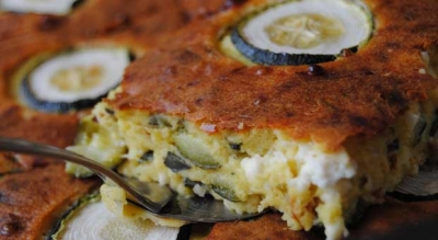 Open - Faced Pie with Zucchini and Cheese