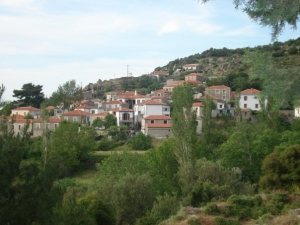 Vafios - Beautiful views to Molyvos, the Aegean Sea and the Sunset