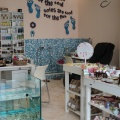 Interior space of fish spa at Eressos